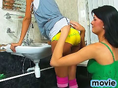 Two hot stunning sweet lesbian babes tasting and making love
